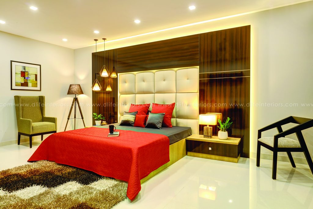 Queen-Size-bed-design-with-bed-side-tables-and-bottom-storage-by-DLIFE-Home-Interior-Designers