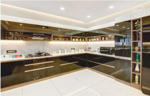 lacquered glass kitchen cabinets